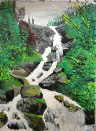 """une des nombreuses cascade qui alimente la rivière près de chez mon """"Pappy-cougar"""""""