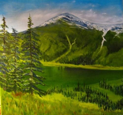 Un des nombreux chemins qui parcours la vallée, Ape-lake