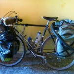 le vélo de Jeff, resoudé, prêt à repartir
