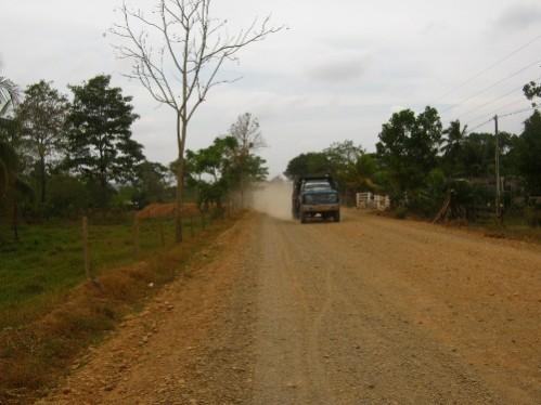 Premiers kilometres sur de la piste... bienvenu en Amerique du Sud