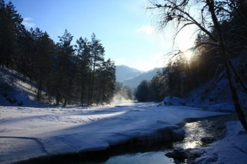 sur la riviere Tcherga, a Kamlak