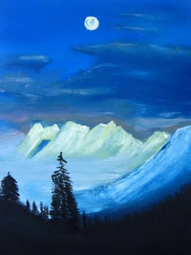 la même montagne qui domine la vallée